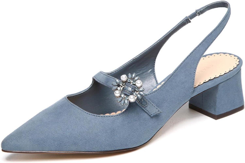 sommar kvinna Pump Slingbacks Bead skor kvinna Med klackar Points Points Points Toe Ladies skor  kunder först