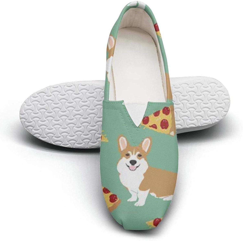 Women's Cotton Espadrille Basset Hound Floral Dog Flat shoes