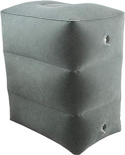 ObboMed HR-7330 Almohada Inflable de Viaje para Descanso del Pié de 3 Capas, Almohada Plegable y Ajustable en Altura para Relax de Pies/Piernas; Gris - 45 x 42 x 30 cm