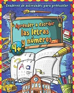 Aprender a escribir letras y números: Gran cuaderno de nú