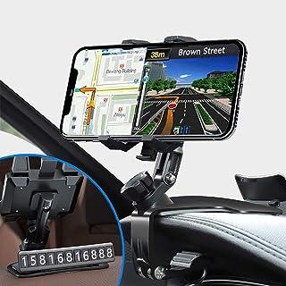 Dashboard Car Phone Holder Mount, CLZWiiN Upgraded Phone Holder Multiple Purposes Car Clip Phone Holder 1200 Degree Rotati...