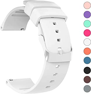 JIELIELE for 22mm 20mm Quick Release Sport Watch Bands, Lightweight Soft Rubber Silicone Replacement Band Straps