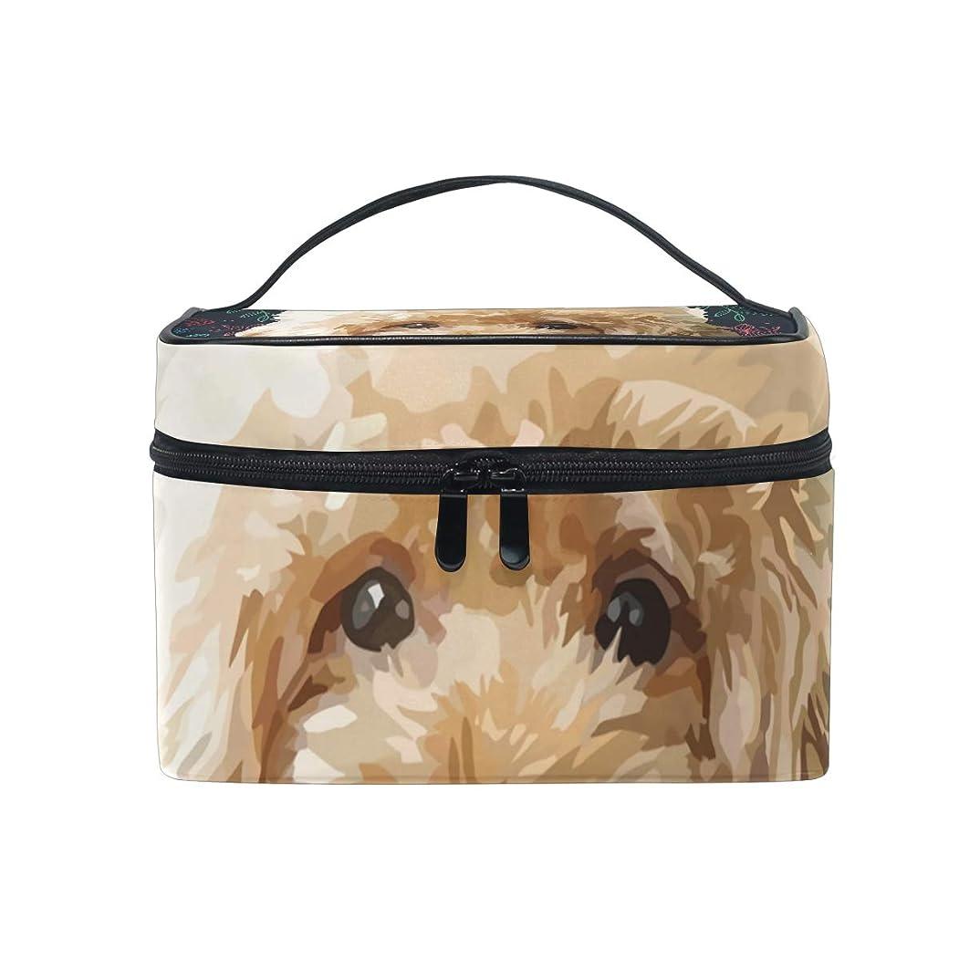 分離アテンダント赤字メイクボックス 花柄 犬柄 化粧ポーチ 化粧品 化粧道具 小物入れ メイクブラシバッグ 大容量 旅行用 収納ケース