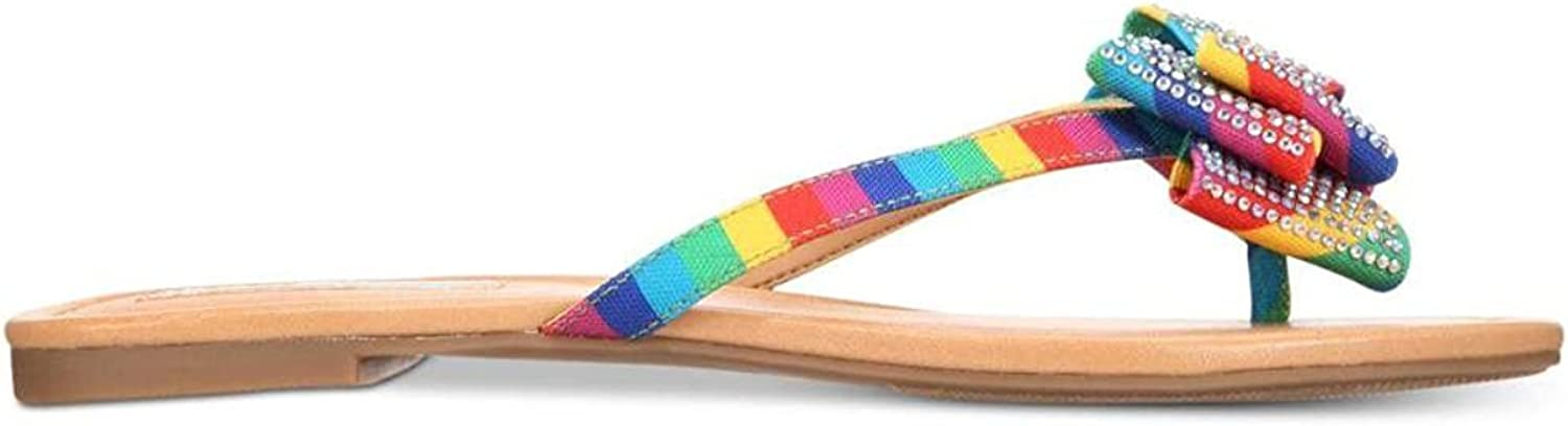 INC International Concepts Womens Mabae Canvas Open, Multicolor Bright, Size 5.5