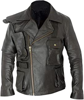 armani emporio collezione black leather jacket