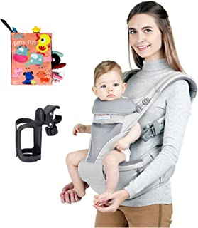 Four Seasons Baby Sling,Baby Carrier with Hip Seat, Front and Back Sling, with Hood, for Newborn and Toddler 0-36 Months, ...