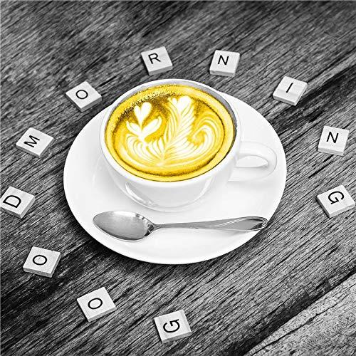 UIOLK Cartel de Arte Retro para el hogar Taza de caf Creativa decoracin del hogar Pintura Mural Lienzo nrdico Pintura al leo Simple Arte Moderno impresin caf