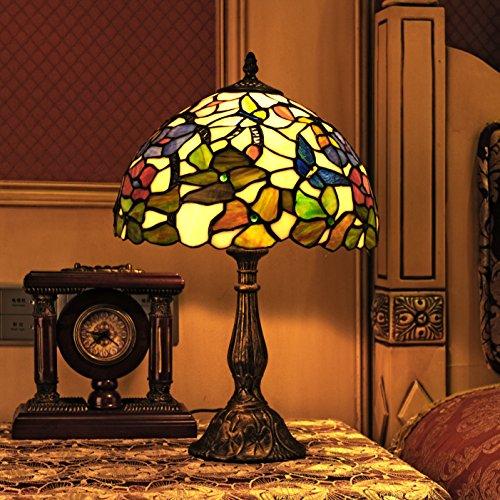 Tiffany 12 pollici europeo stile pastorale di vetro macchiato farfalla serie Lampada Comodino luce della lettura della luce