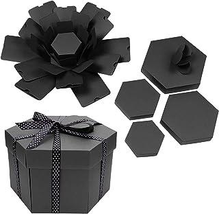 Gift Box Creative Box Hexagonal DIY Photo Album Scrapbooking Box Gift Anniversary Scrapbook DIY Photo Album Birthday Gift ...