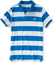 AEROPOSTALE Mens Striped A87 Rugby Polo Shirt