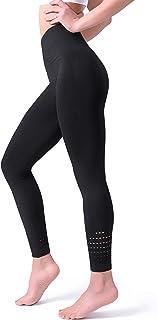 POSHDIVAH Women's High Waisted Gym Leggings Seamless Tummy Control Workout Leggings