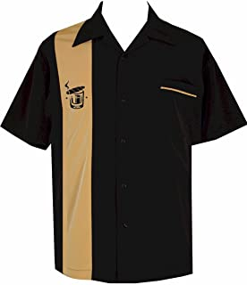 BeRetro Cigar Embroidered Retro Lounge Camp Men's Shirt ~ Cuban