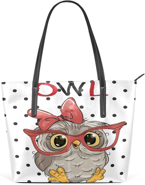 COOSUN Cute Owl mit mit mit Brille PU Leder Schultertasche Handtasche und Handtaschen Tasche für Frauen B075YX2XMH 6e7a3a