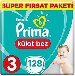 Prima Pants Külot Bebek Bezi, 3 Beden, 128 Adet, Midi Süper Fırsat Paketi