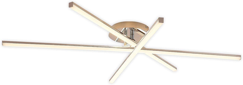 Lampenwelt LED Deckenleuchte 'KGoldna' dimmbar (Modern) in Chrom aus Metall u.a. für Wohnzimmer & Esszimmer (3 flammig, A+, inkl. Leuchtmittel) - Lampe, LED-Deckenlampe, Deckenlampe, Wohnzimmerlampe