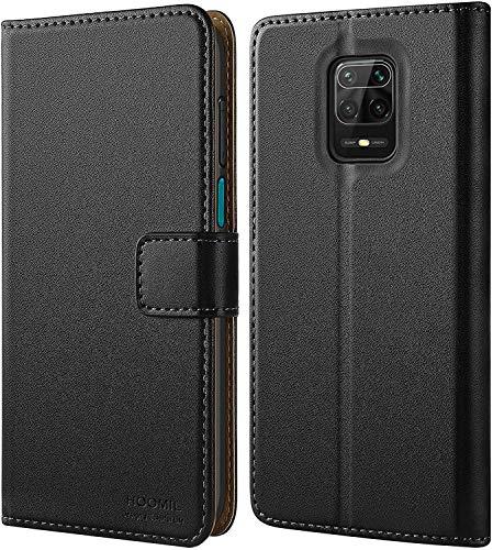 HOOMIL Cover per Xiaomi Redmi Note 9S, Cover per Xiaomi Redmi Note 9 PRO, Flip Case in Pelle PU Premium Custodia per Xiaomi Redmi Note 9S/Note 9 PRO - Nero