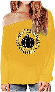 Womens Halloween Fashion Sweatshirt Long Sleeve Print Blouse Loose T-Shirt