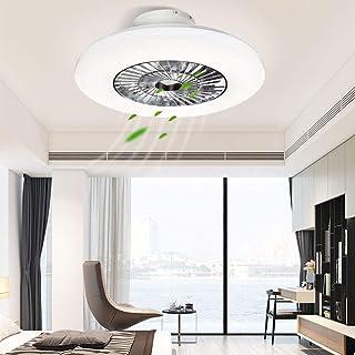 Depuley LED Fan Plafonnier Moderne Nordique Dimmable Ventilateur Au Plafond,lumières de ventilateur pour salon, chambre à ...