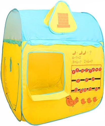 Home experience- Kinder Kinder Spielen Pop-up Zelt Haus Prinz oder Prinzessin Sommer Indoor oder Outdoor Garten Spielzeug Spielhaus Strand Sun House Jungen mädchen (105x105x120cm)