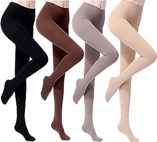 ANDIBEIQI 4 Pair Collant Compressione Forte,Calze Riposante,Pantacollant Suppo,Collant calze opache Tights Leggings Donna ...