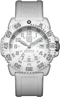 ساعة للنساء من لومينوكس، لون أزرق بحري، سدادات ملونة (سلسلة XS.3057.WO/ 3050): صناعة سويسرية + جراب من الألياف الزجاجية ال...