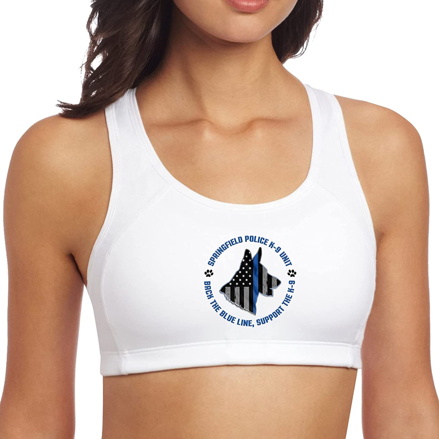 Police K9 Thin Blue Line Women's Tops Save money Seamless Yoga Leisure Excellent Padd
