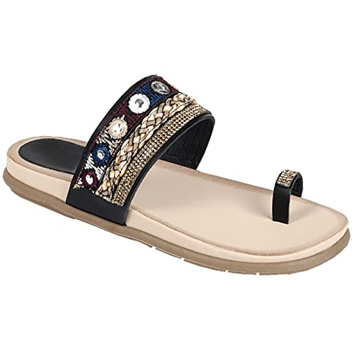 c69eecb3a94f8c Easter Special Sale Athena Bohemian Large Toe Ring Flip Flop Wedge Sandal  Wide Feet for Women
