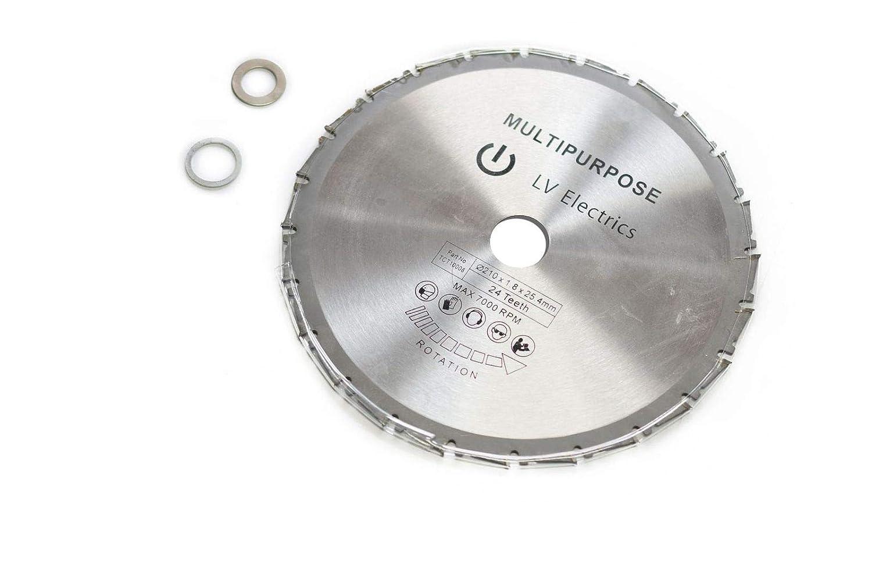 Disco Hoja de sierra circular especial 210mm × 25.4mm × 24toneladas), para cortar el acero, el aluminio, el hierro y los metales no férrico, Le madera y el plástico