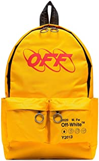 Luxury Fashion | Off-White Mens OMNB003F19C360166020 Yellow Backpack | Fall Winter 19