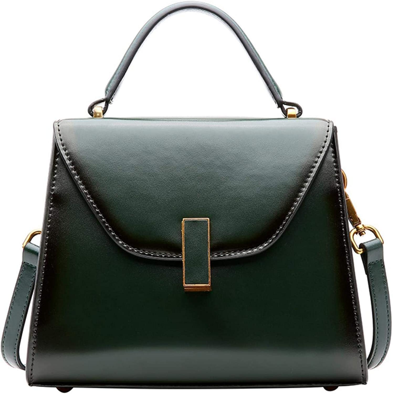 Genuine Leather Handbag Women Shoulder Tophandle Crossbody Bag