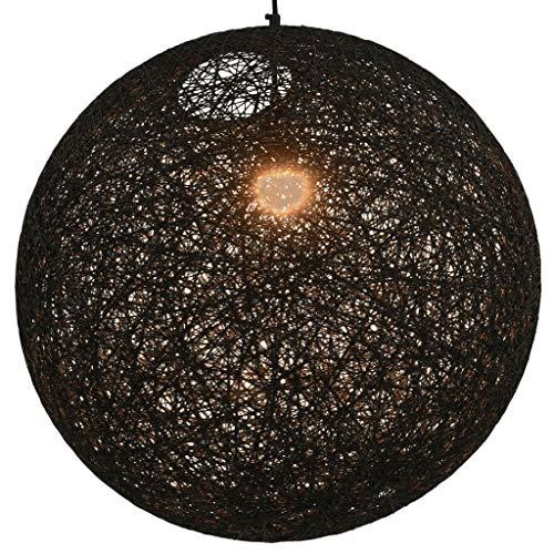 vidaXL Hanglamp Rond 55 cm Zwart Plafondlamp Verlichting Lampenkap Hanglamp