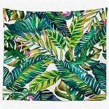 Thmyo - Arazzo Decorativo con Stampa 3D, per Camera da Letto, Soggiorno, dormitorio, 150 x 130 cm Tropical Plants 2