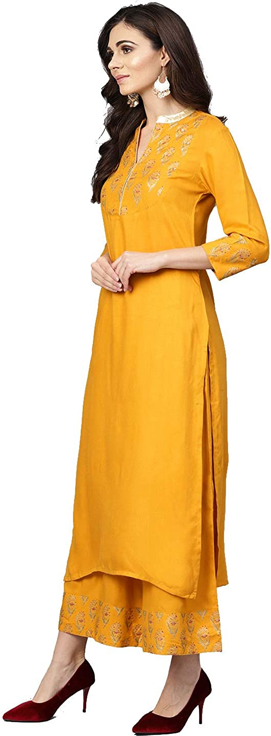 Hiral Designer Indian Rayon Cotton Kurti for Palazzo with OFFer Women Denver Mall