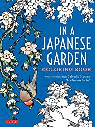 in a japanese garden coloring book