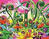 Pintura mundo de insectos por número DIY pintura al óleo set 40 * 50 CM lienzo sin marco decoración del hogar acrílico pintura de arte moderno