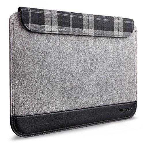 Inateck 11 Zoll Ultraschlanke Filzhülle für MacBook Air, Magnetverschluss, Grau