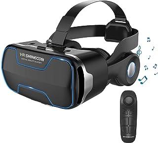 【2020最新改良版VRゴーグル】VRヘッドセット VRヘッドマウントディスプレイ 3D スマホVR 取り外すヘッドホン付き  モバイル型 瞳孔/焦点調節 非球面光学レンズ 4.7~6.5インチスマホ 本体操作可 電話応答可 眼鏡対応 1080...