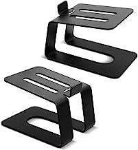 Stageek Aluminum Desktop Speaker Stands, Pair, Universal Desk Stand for Small, Medium..