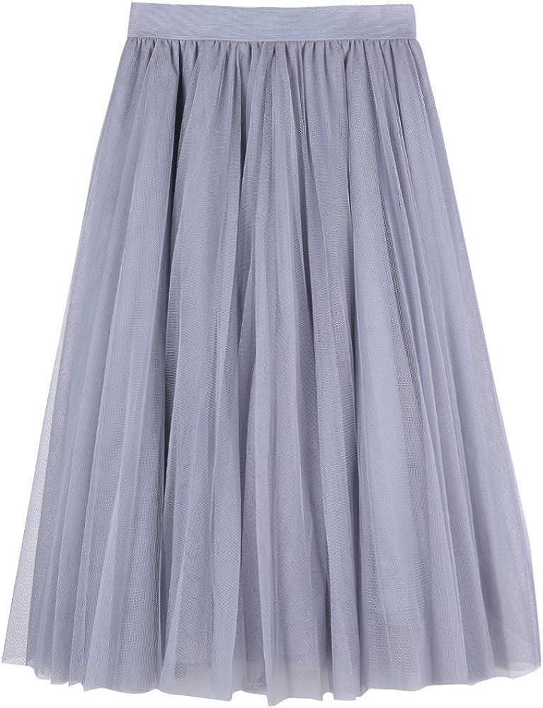 Aerusi Vintage 3 Layer Lace Tulle Overlay Tutu Skirt Party Wedding Petticoat