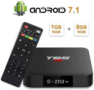 T95 S1 Android 7.1 tv Box with 1GB RAM/8GB ROM Amlogic S905W Quad-core Digital Display HDMI HD Support 2.4G WiFi 3D 4K