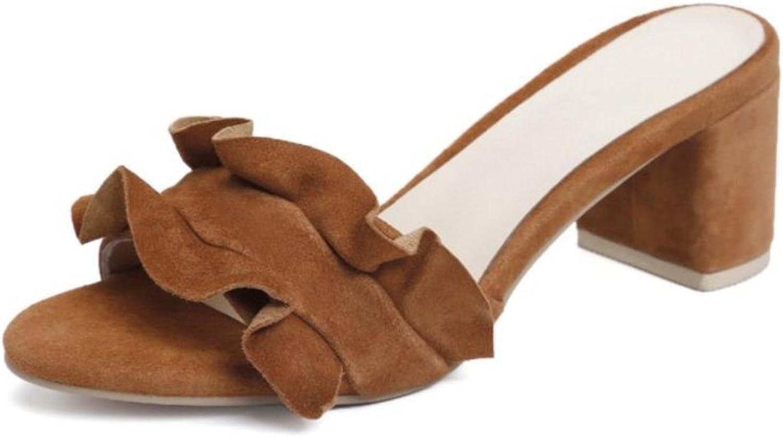 kvinnor39;s hög klack Sandals Sandals Sandals Elegant Think Heel sommar skor kvinnor Slippers dams Vacation Party Footbads Storlek  Fabriks Outlet