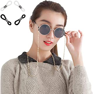 Xiang Ru Cord Neck String Glasses Chain Heart Shape Eyeglasses Neck Cord Sunglasses Strap Holder with Anti-slip Rings
