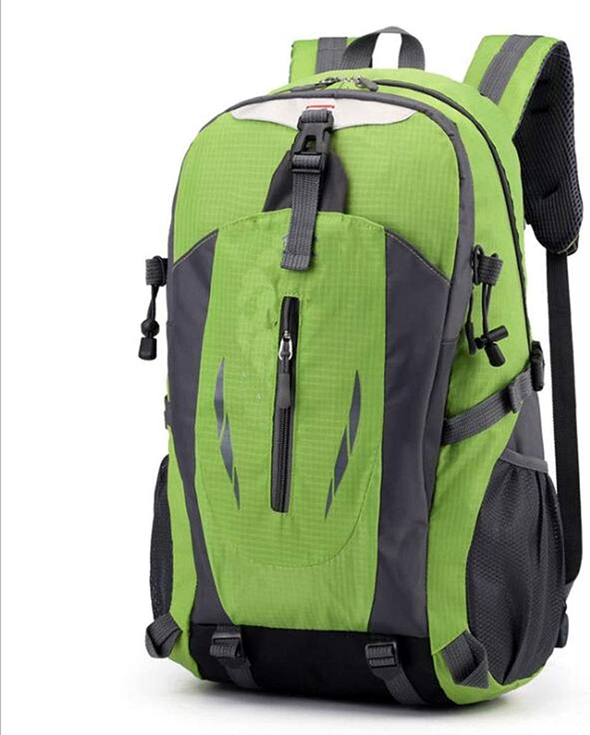 55L Outdoor Mountaineering Bag, Large Capacity Men and Women Outdoor Sports Backpack, Sports and Leisure Travel Backpack (color   Green, Size   OneSize)