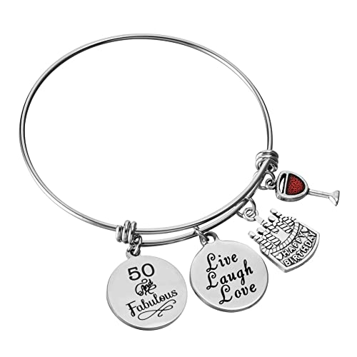 thirty birthday amazon Decorating for Party at Home miss pink birthday gifts for her stainless steel expandable bangle 13th sweet 16 18th 21st 30th