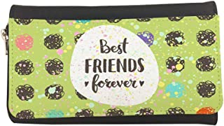 Best friends for ever Printed Leather Case Wallet