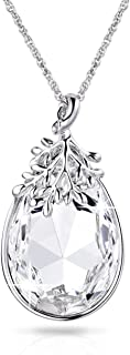 """Pendant Necklace Anniversary Birthday Gifts for Women Birthstone Jewelry Made with Swarovski Crystals, 18""""+2"""" Extender"""