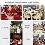 Chengtao Tischdecke Einweg, Tischdecke Plastik - 6er Pack, Garten Tischdecke Rechteckig Tischtuch Tischtuchtischdecke für draussen - 5