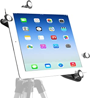 iShot G7 Pro Tripod Mount for iPad,Upgraded Universal Heavy Duty All Metal Frame iPad Tripod Mount Adapter,iPad Holder for Tripod Fits iPad Air, Pro 10.5 9.7, Mini, iPad 123456 with Or Without A Case