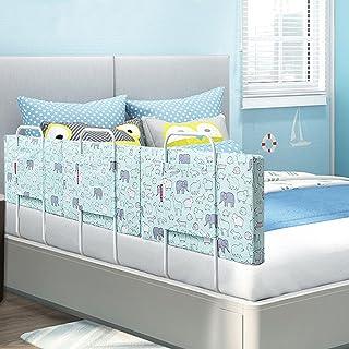 Baby Anticaduta Sollevamento Verticale Bed Side Guardia Barriera con Serratura Fibbia for Bambini Piccoli Letto Facile da Montare Color : Blue, Size : 150cm WDF Letto for Bambini Rails