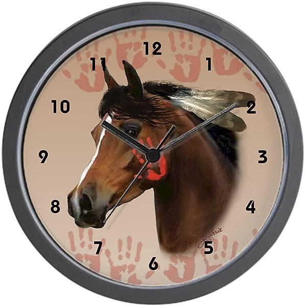 CafePress War Horse Wall Clock Unique Decorative 10 Wall Clock